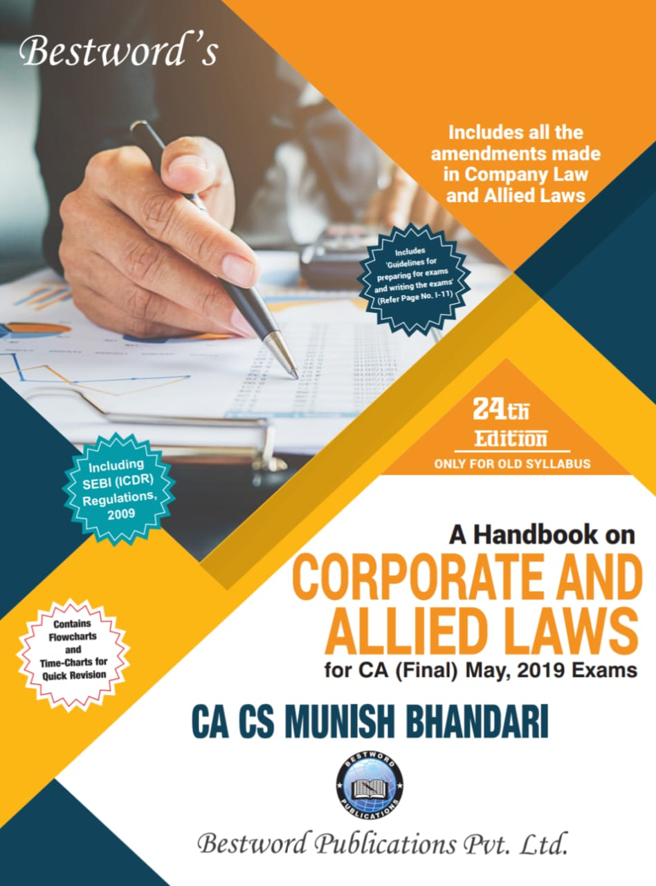 bestword's-a-handbook-on-corporate-and-allied-laws---by-ca-cs-munish-bhandari---24th-edition---for-ca-(final)-may,-2019-exams-(old-syllabus)