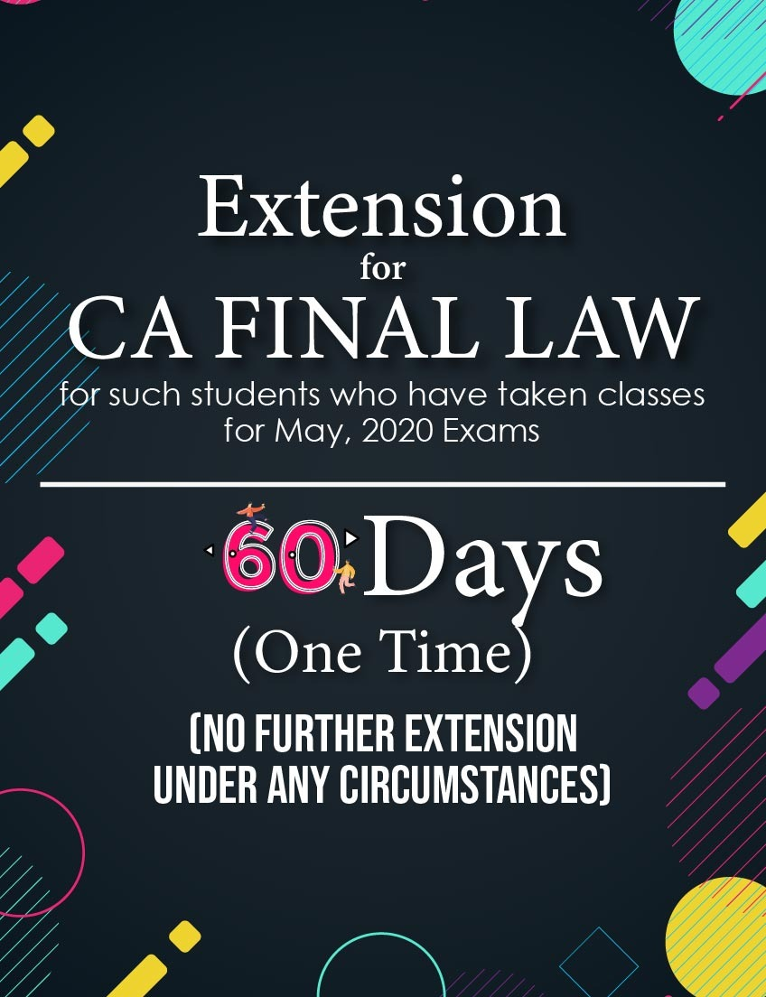 extension-of-ca-final-law-lectures-for-60-days-(for-may-2020-exams)