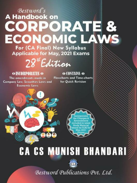 bestword's-a-handbook-on-corporate-and-economic-laws---by-ca-cs-munish-bhandari---28th-edition---for-ca-(final)-may,-2021-exams-(new-syllabus)