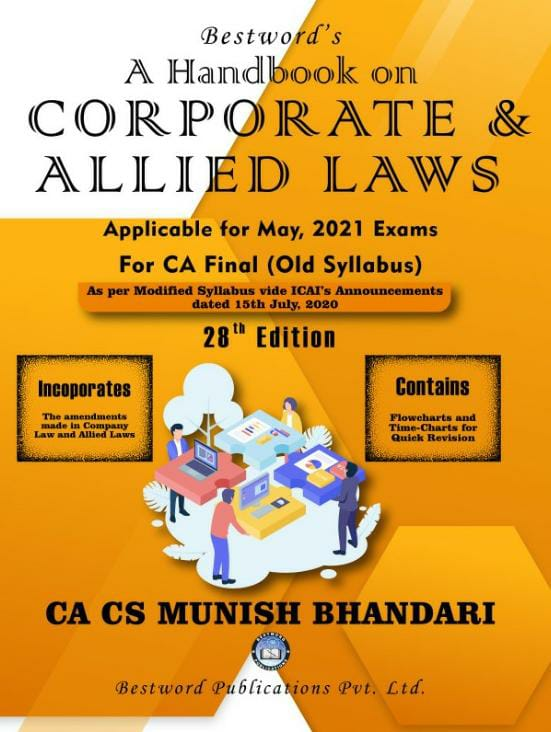 bestword's-a-handbook-on-corporate-and-allied-laws---by-ca-cs-munish-bhandari---28th-edition---for-ca-(final)-may,-2021-exams-(old-syllabus)