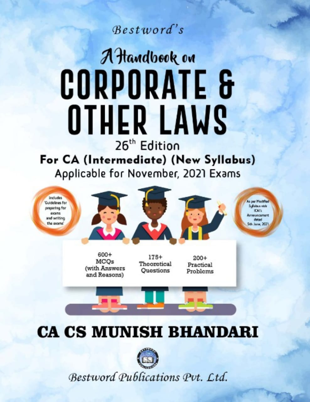 bestword's-a-handbook-on-corporate-and-other-laws---by-ca-cs-munish-bhandari---26th-edition---for-ca-(intermediate)-november,-2021-exams-(new-syllabus)